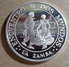 "ARGENTINA 1997. 25 Pesos Plata PROOF. 3ª SERIE IBEROAMERICANA ""LA ZAMBA. KM#123"