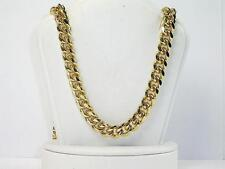 Men oversized 77grs Curb chain 30 inch 8mm wd 18k yellow gold layer solid chain