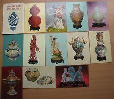 Chinese Painting Photo POST CARD Set Porcelain 12 Art Craft Urn Vase Figurine Ra