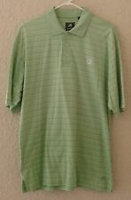 Ahead Authentics Golf Shirt Memorial Tournament Mens Large Green Striped