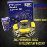 NEW EBC 318mm FRONT BRAKE DISCS AND YELLOWSTUFF PADS KIT OE QUALITY - KIT17086