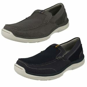 Mens Clarks Casual Everyday Slip On Textile Shoes Marus Step