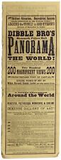 More details for 'dibble bro's mammoth palace hall panorama of the world!' 1870s daybill
