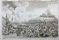 Army Revolutionary IN 1793 Rare Engraving 10064 French Constitution