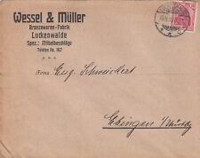 LUCKENWALDE, Briefumschlag 1915, Wessel & Müller Bronzewaren-Fabrik