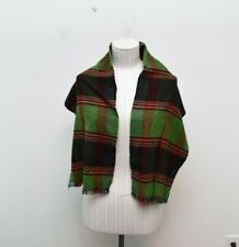 Royal Scot Scarf 100% Cashmere Plaid Green Casual