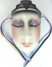 CIC About Face Clay Art Mask Art Deco Woman Wall Hanging Made San Franciso Co.