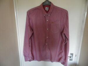 Gents Long Sleeve, Striped, Button Up Shirt with Button Down Collar size XL