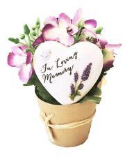 Grave Ornaments Flowers Pot In Loving Memory Stone Graveside Memorial Plaque Set