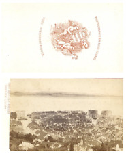 Bruder Frères, Suisse, Neuchâtel Panorama CDV vintage albumen carte de visite,