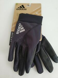 New in package Adidas Active Lifestyle Climawarm Thermal Running Gloves SZ M/L