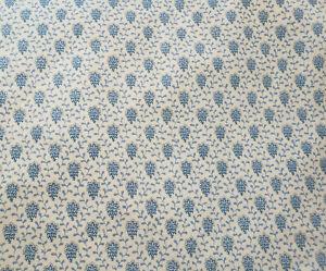 "Societe Charles Demery Tissu Souleiado Cotton Fabric Blue White 10+ yards x 60"""
