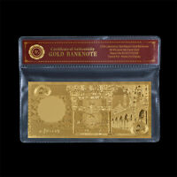WR 1966 Saudi Arabia 50 Riyals 24k Gold Banknote Plastic Bill In Sleeve