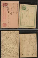 Netherlands  Indies  2  postal  cards   used          KL0911