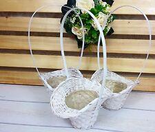 3 Streukörbchen Blumenkörbchen weiß Blumenkinder Hochzeit Blumen streuen