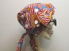 Baseball & American Flag Skull Cap Do Rag w/sweatband High Quality Made in US!!!