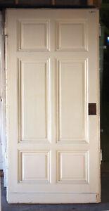 7 Gründerzeit-Türen, Türblatt,  6-Felder T-AH 01-10/5D,  ca. 94-105x218cm