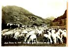 Cartolina Valle D'Aosta - Ayas-Periax m.1500 -Panorama Sfondo Ghiacciai Del Rosa