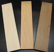 "WALNUT CHERRY MAPLE THIN BOARDS LUMBER WOOD 1/8"" X 2-1/2"" X 12-1/2"""