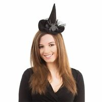 Mini Witch Hat On Headband with Spider Halloween Fancy Dress Accessory