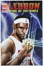 LEBRON JAMES KING OF THE RINGS #1 SIGNED BY ADI GRANOV MARVEL NYCC PROMO ESPN