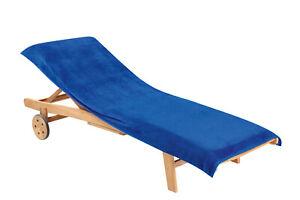 Liegenauflage Bezug Schonbezug Gartenliege unifarben 85x200 cm blau marineblau