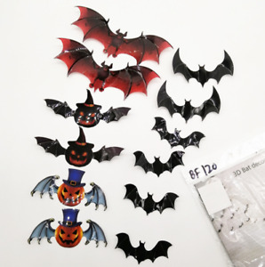 Halloween Window Stickers Decoration Wall Spooky Decal Party color Kids 12x Bat