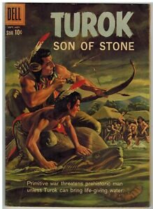 TUROK SON OF STONE #21 1960 DELL EARLY SILVER AGE NICE!