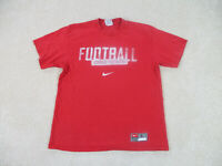 VINTAGE Nike Ohio State Buckeyes Shirt Adult Large Red OSU Football 90s A25*