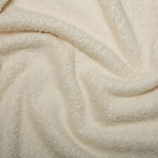 """Cotton Terry Towelling Fabric - Plain Solid Colours Material 59""""/150cm wide"""