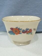 "Lenox Special Fine China Square Flower Pattern Bowl Floral 4""x3"" Pedestal Ivory"