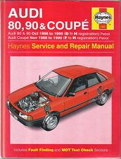 Audi 80 90 & Coupe 1986-90 Haynes Service & Repair Manual 1996 inc fault finding