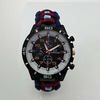Paracord Watch with RAF Air Cadets (RAAC) Colours a Great Gift