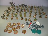 Large Lot Of HeroScape Game Pieces 60 Figures Some Markers & Glyphs