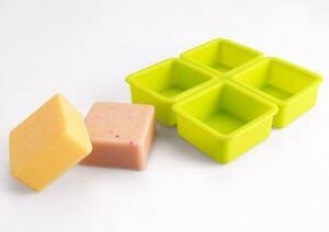 Silicone Four balls Square Silicone soap Mould plaster Mold
