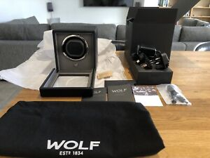 Wolf Winder with Cover 1.8 Automatic Watch Winder Fully Boxed New Black 461103