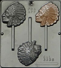 Indian Chief Lollipop Chocolate Candy Mold  3356 NEW