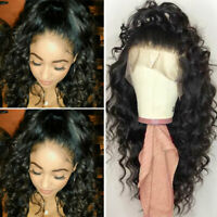 Thick Loose Wave Curly Wigs Pre Plucked Virgin Indian Human Hair Lace Front Wigs