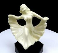 "WALKER POTTERIES MONROVIA CALIFORNIA WHITE 5 3/8"" DANCING LADY FIGURINE 1945-"