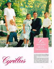 PUBLICITE ADVERTISING 064  1990  CYRILLUS   mode enfantine