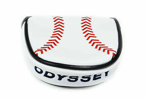 Odyssey Limited Edition Baseball Mallet Putter Headcover White Red Black - NEW