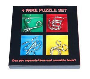 Metal Puzzle/IQ Buster Set (4 pcs)