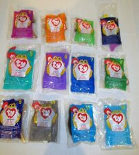 MCDONALDS 1998 SET OF 12 TY BEANIE BABIES PLUSH HAPPY MEAL TOYS