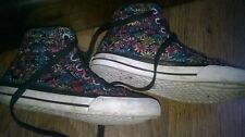 Girls *SC & Co* Hi Tops Flower Print Trainers - Size 13..almost new.