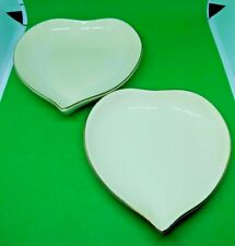 Set of 2 Lenox 2000 Keepsake Collection Heart Dishes with Gold Trim