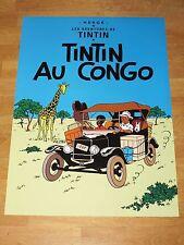 TINTIN POSTER LARGE - TIN TIN AU CONGO / IN THE CONGO - 70 x 50 cm MINT NEW RARE