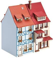 NEW ! HO scale Faller TWO 3-STOREY TOWN HOUSES w Dormers : Building KIT # 130495