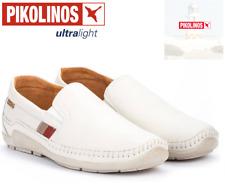 Pikolinos white mens shoes footwear AZORES 06H-3125 ESPUMA BRANDY leather men's