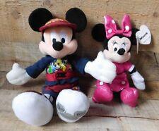 2 Disney Mickey Mouse 2007 & Minnie Mouse 2015 Plush Stuffed Animal