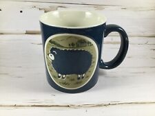 Otagiri Sheep Stoneware Embossed Lamb Coffee Cup Mug Japan Art Pottery